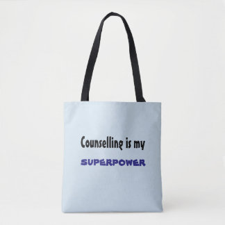 Counselling is my Superpower bag
