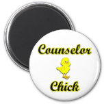 Counsellor Chick 6 Cm Round Magnet