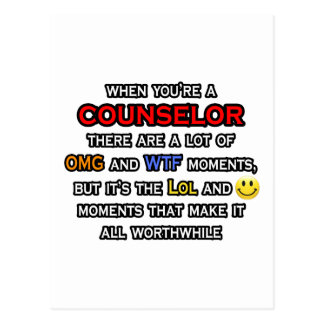Counselor ... OMG WTF LOL Postcard