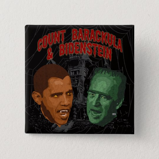 Count Barackula & Bidenstein 15 Cm Square Badge