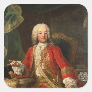 Count Carl Anton von Harrach Square Sticker