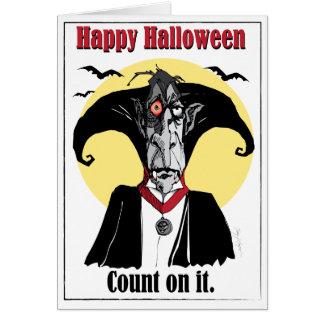Count Dracula card, fun cartoon illustration Card