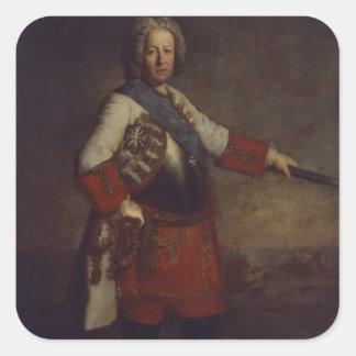 Count Friedrich Heinrich von Seckendorf, 1720 Square Sticker