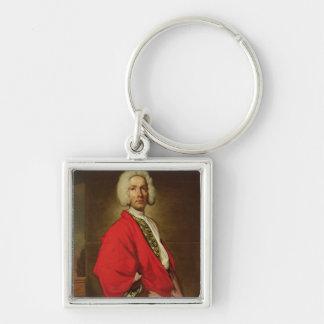 Count Galeatius Secco Suardo  c.1710-20 Silver-Colored Square Key Ring
