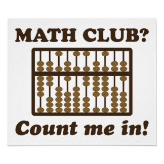 Count Me in the Math Club Posters