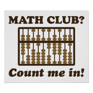 Count Me in the Math Club Print
