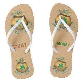Count Money Adult, Slim Straps Flip Flops