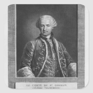 Count of St. Germain, famous alchemist, 1783 Square Sticker