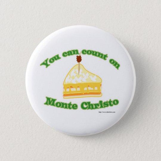 Count on Monte Christo 6 Cm Round Badge