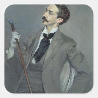 Count Robert de Montesquiou  1897 Square Sticker