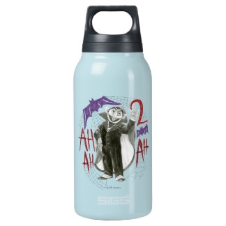 Count von Count B&W Sketch Drawing Insulated Water Bottle