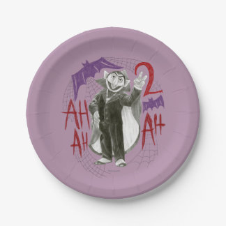 Count von Count B&W Sketch Drawing Paper Plate