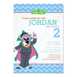 Count von Count Birthday 13 Cm X 18 Cm Invitation Card