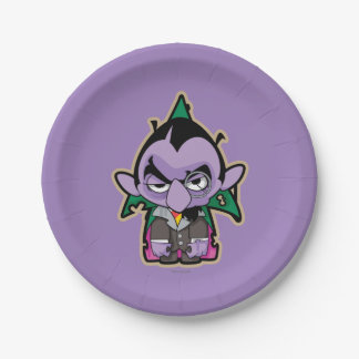 Count von Count Zombie Paper Plate