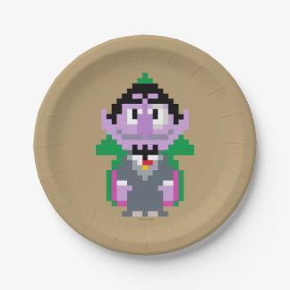Count von Pixel Art 7 Inch Paper Plate