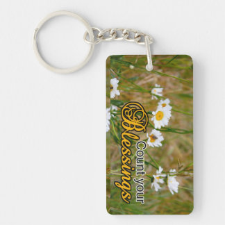 Count Your Blessings Acrylic Keychain
