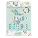 Count your Blessings Gretting Greeting Card