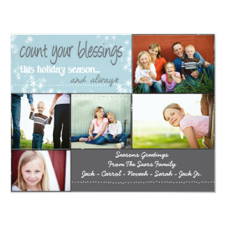 Count your blessings... this holiday season invite