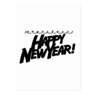 Countdown Happy New Year Postcard