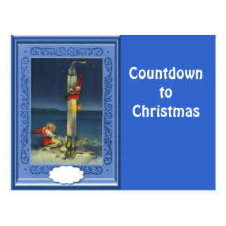 Countdown to Christmas Postcard
