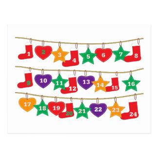 Countdown to Christmas Postcard