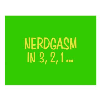 Countdown to Nerdgasm - Green Background Postcards