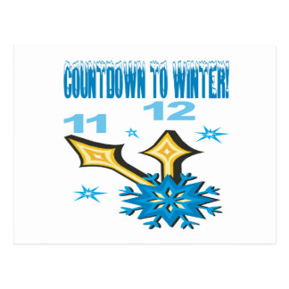 Countdown To Winter Postcard