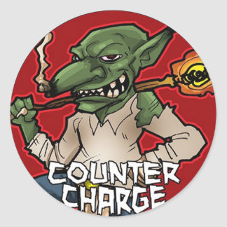 Counter Charge Round Sticker