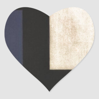 Counter Composition IV by Theo van Doesburg Heart Sticker