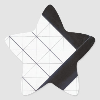 Counter composition VI by Theo van Doesburg Star Sticker