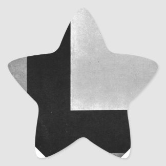Counter composition VIII by Theo van Doesburg Star Sticker
