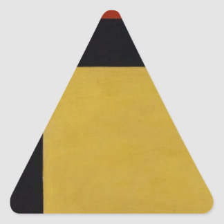 Counter composition X by Theo van Doesburg Triangle Sticker