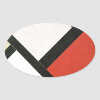 Counter composition XIV by Theo van Doesburg Oval Sticker