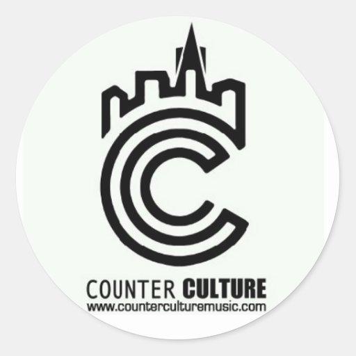 Counter Culture Underground White Sticker
