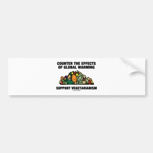 Counter Effects Global Warming Support Vegetarian Bumper Sticker