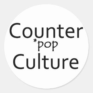 Counter *pop Culture Round Sticker