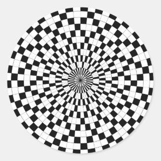 Counter Spirals by Kenneth Yoncich Round Sticker