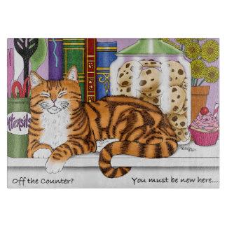 Counter Top Cat Cutting Board