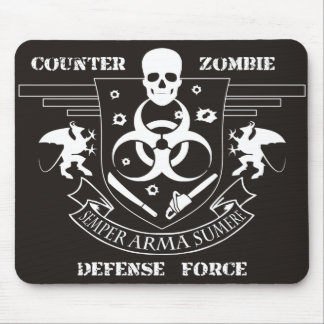 Counter Zombie Defense Force Mouse Pad