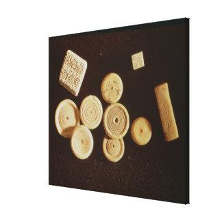 Counters and dice, Gallo-Roman Canvas Print