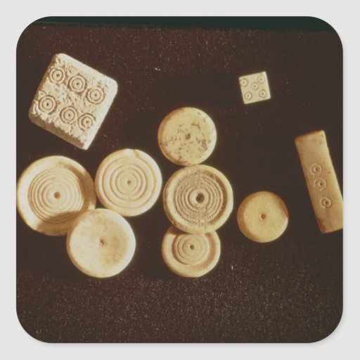 Counters and dice, Gallo-Roman Stickers