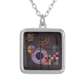 Counterweights, 1926 silver plated necklace