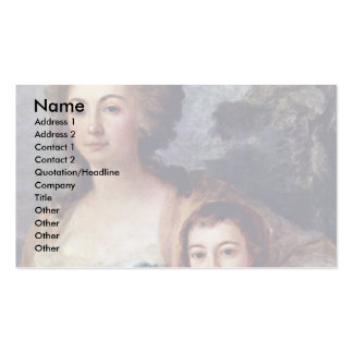Countess Anna Protassowa With Niece Double-Sided Standard Business Cards (Pack Of 100)