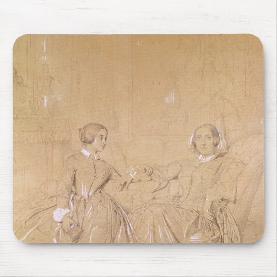 Countess Charles d'Agoult and her daughter Mouse Mat