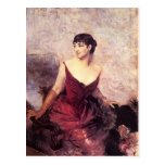 Countess de Rasty Seated by Giovanni Boldini Post Cards
