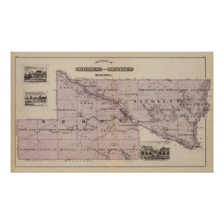 Counties of Brown and Nicollet, Minnesota Poster
