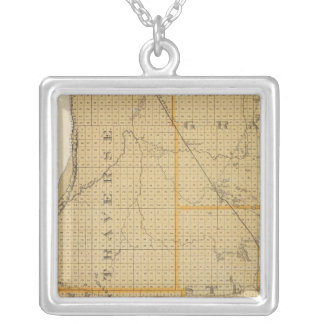 Counties of Grant, Traverse, Minnesota Silver Plated Necklace