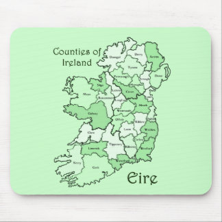 Counties of Ireland Map Mouse Pad