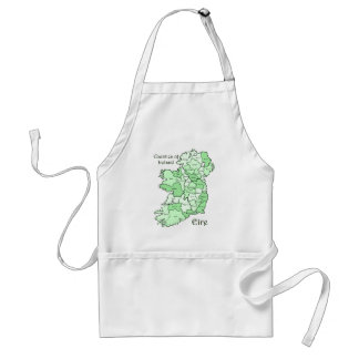 Counties of Ireland Map Standard Apron