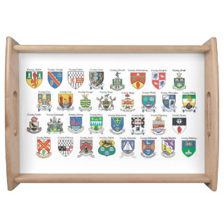 Counties of Ireland Serving Tray Large